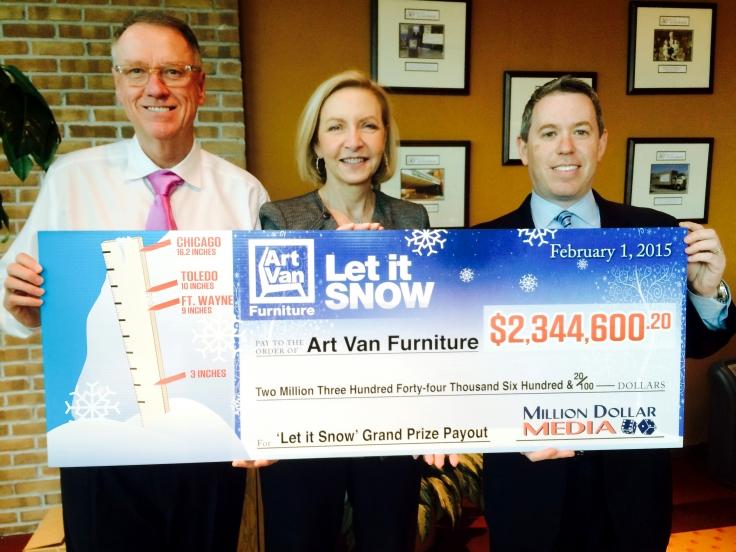 Million Dollar Media Delivers Over $2.3 Million Payout To Art Van Furniture
