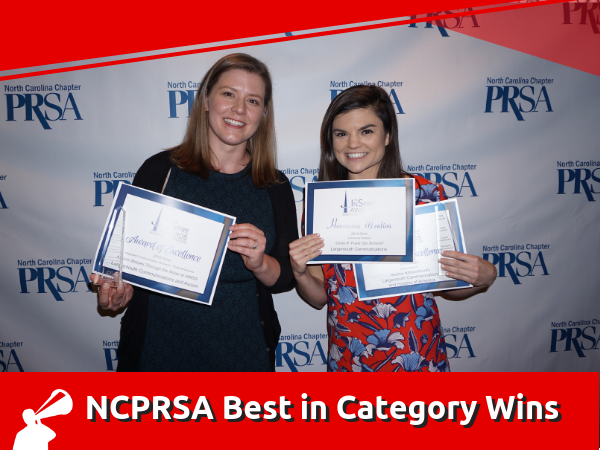 "LARGEMOUTH TAKES HOME TWO ""BEST IN CATEGORY"" WINS AT NCPRSA INSPIRE AWARDS"