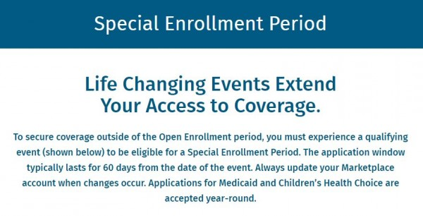 Special Enrollment Period Offers Second Chance for Health Insurance